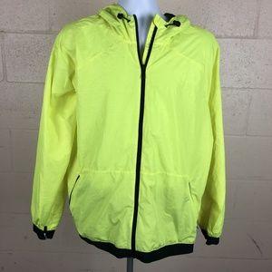 Adidas Men's Full Zip Hooded Windbreaker Jacket Si